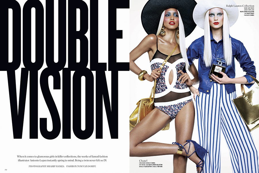 V Magazine. Double Vision