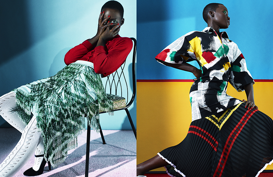 Dazed and Confused. Lupita Nyong'o x2