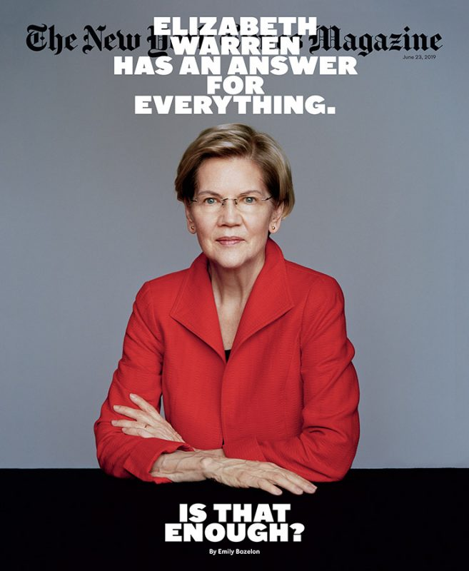 The New York Times Magazine. Senator Elizabeth Warren
